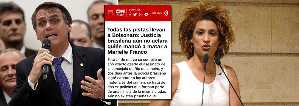 CNN Chile acusa Bolsonaro pela morte de Marielle