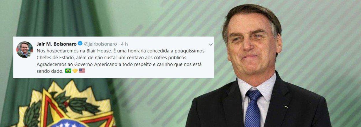 Bolsonaro solta fake news sobre hospedagem nos EUA