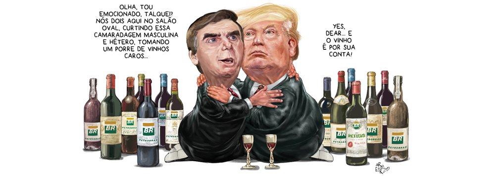 Aroeira: o vinho é por sua conta, Bolsonaro
