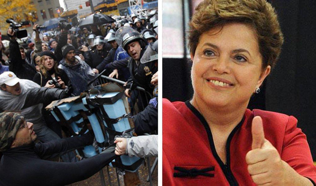 Enquanto o mundo treme, o Brasil sorri