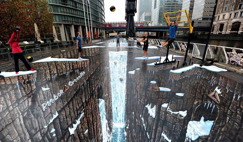 Artista cria a maior pintura 3D do mundo