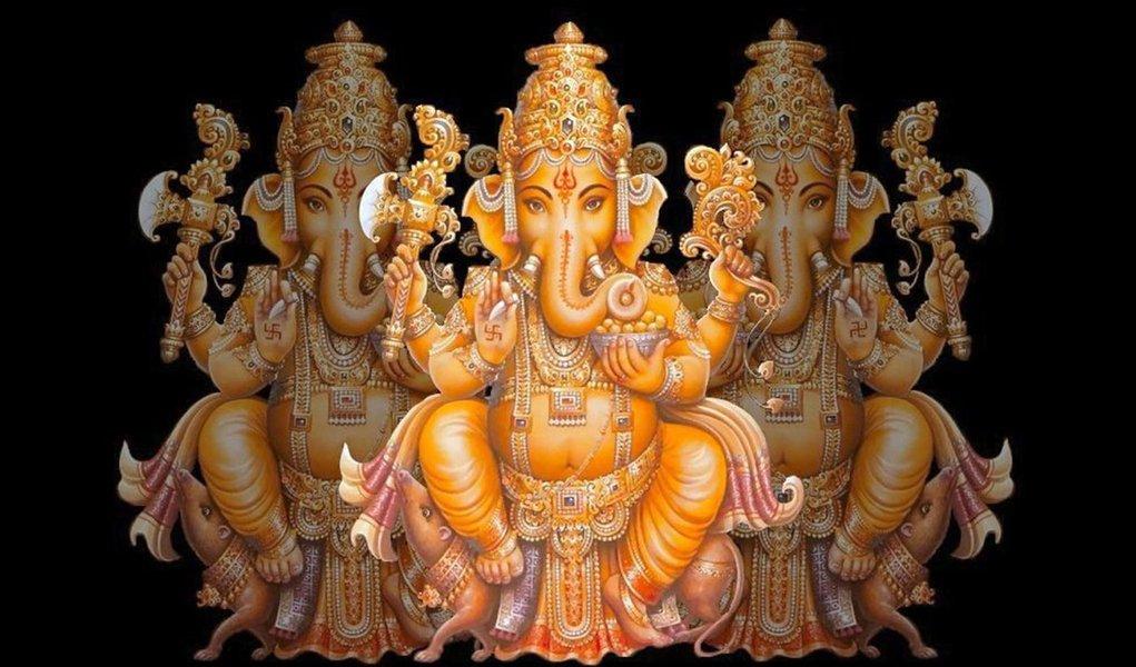 Ganesh dá as boas-vindas a visitante de exposição indiana
