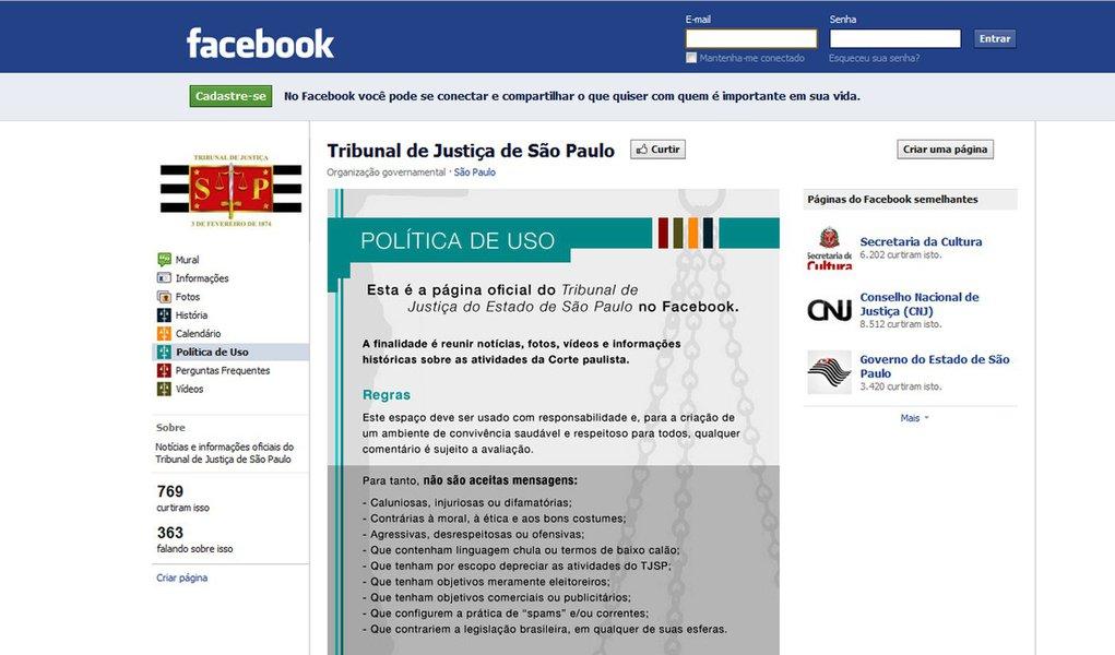 Tribunal de Justiça de São Paulo chega às redes sociais