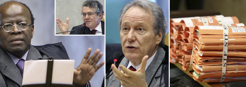 Barbosa quebra ordem e rebate voto do revisor