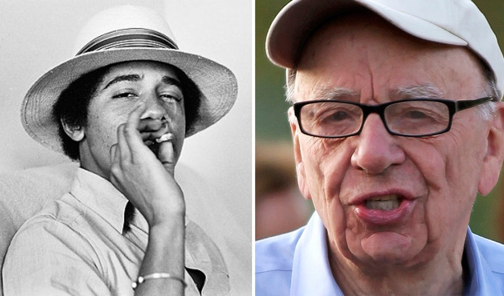 """Nos EUA, Murdoch ataca o """"maconheiro Obama"""""""