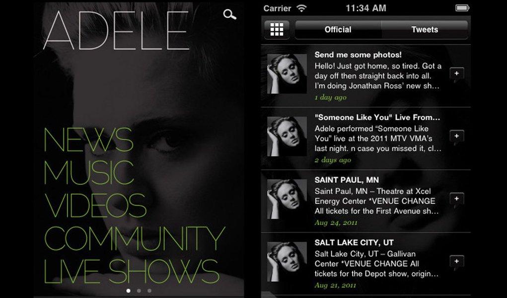 Adele ganha aplicativo mobile