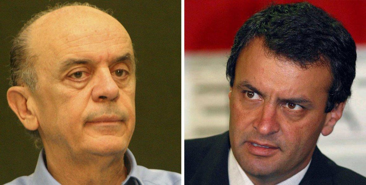 """Para Serra, Aécio Neves é """"balão com pouco gás"""""""