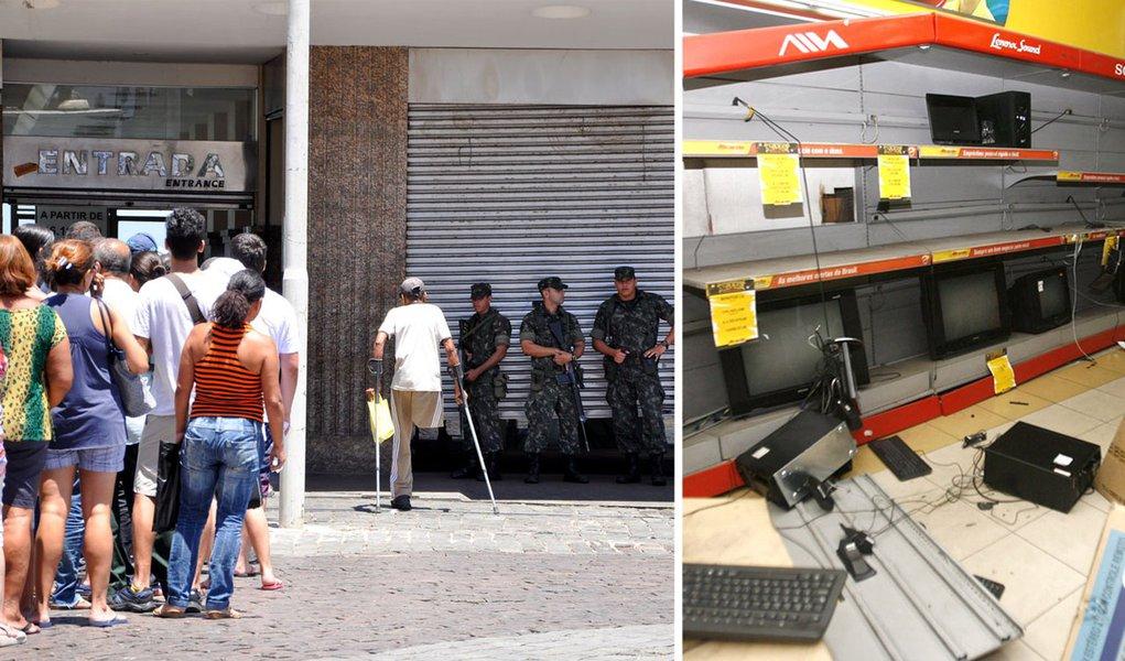 Greve de PMs prejudica comércio em Salvador