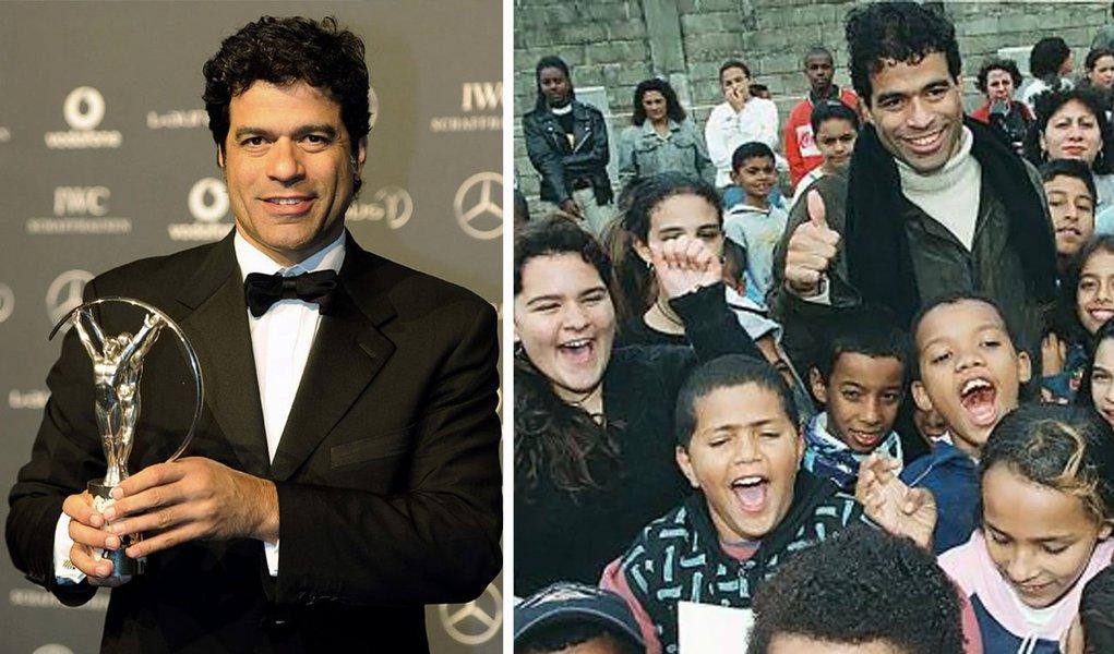 Raí leva Oscar do Esporte por Fundação Gol de Letra