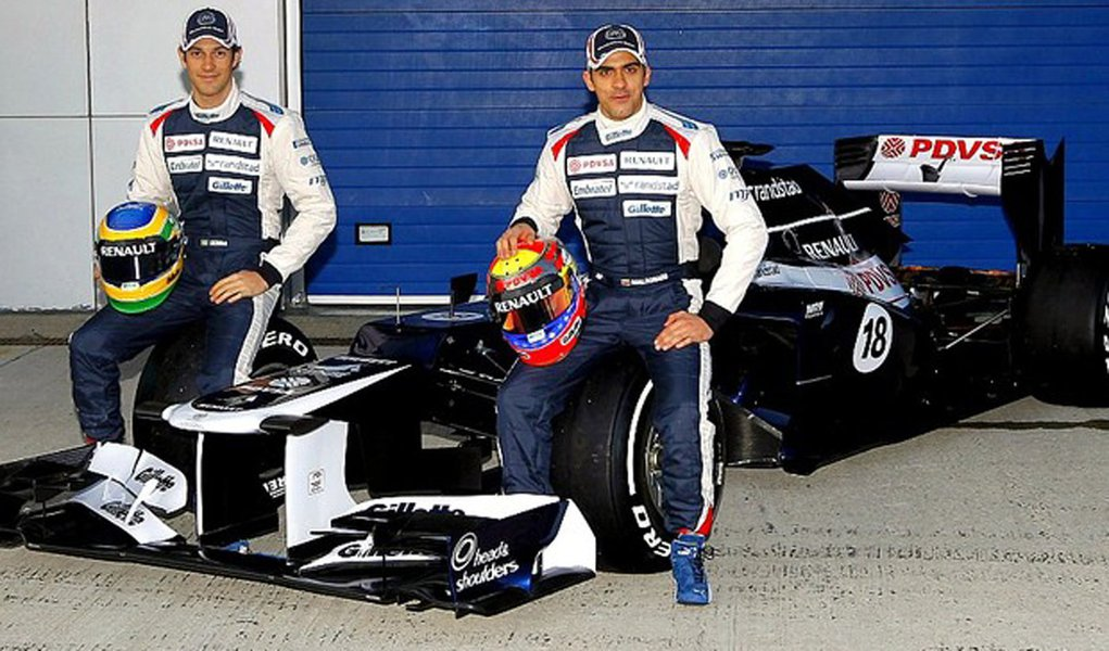 Williams apresenta carro de Bruno Senna