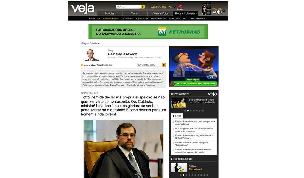 Com apoio oficial, Reinaldo desqualifica juiz