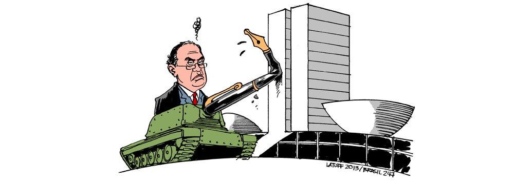 """Latuff: """"tanque"""" de Gilmar esbarra na sociedade"""