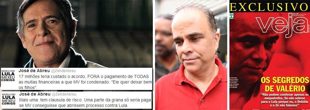 Zé de Abreu aponta trama para Valério falar