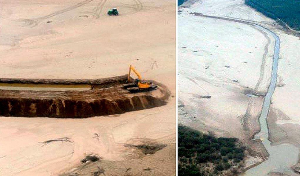 Argentina desvia rio paraguaio
