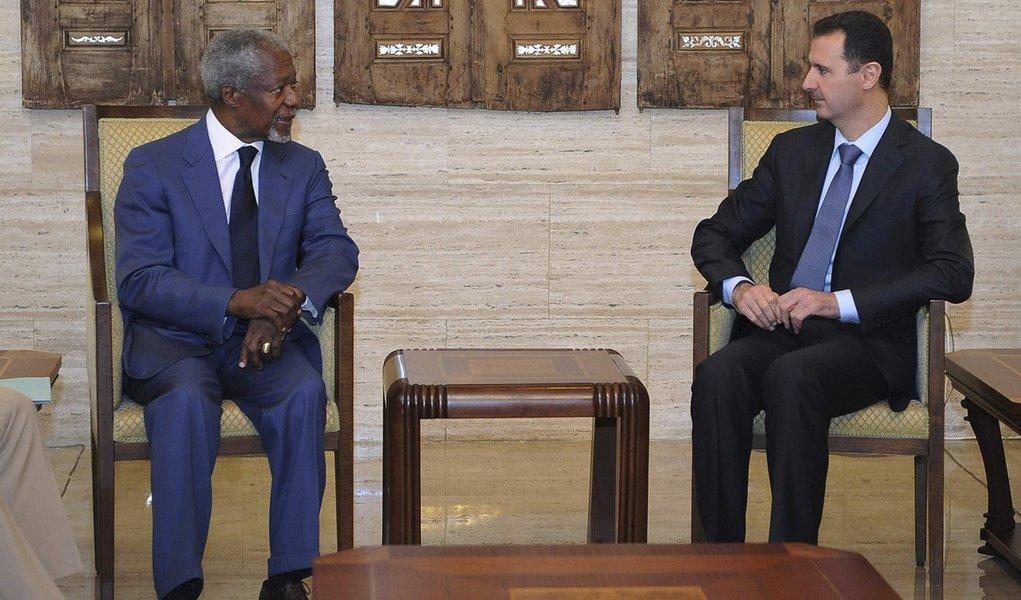 Kofi Annan e presidente da Síria chegam a acordo