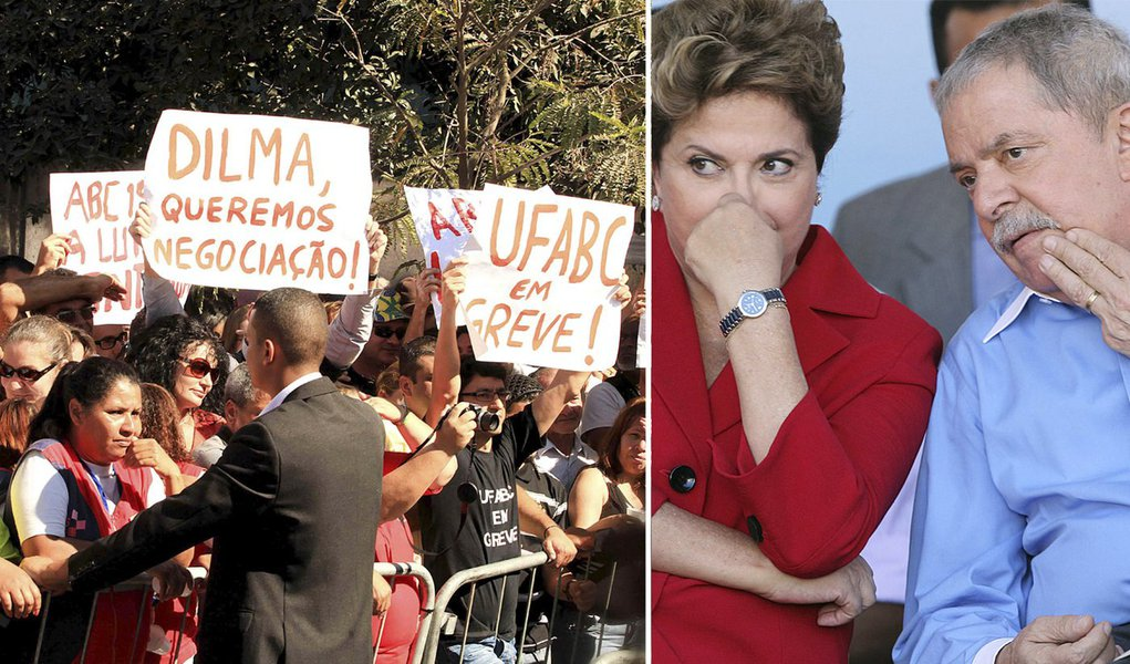 Estudantes apupam Dilma e Lula em S. Bernardo