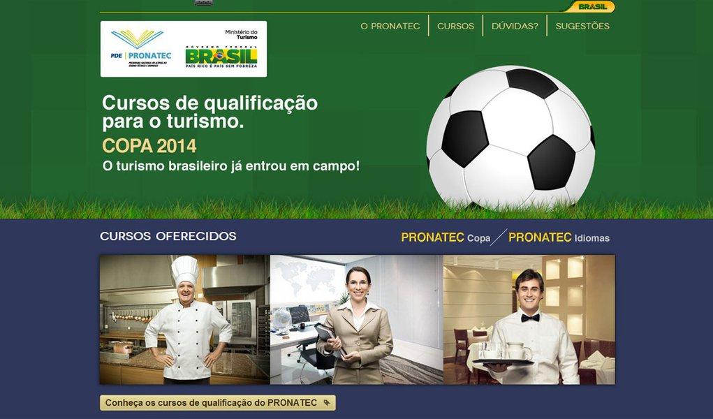 Governo oferece cursos grátis para trabalhos na Copa