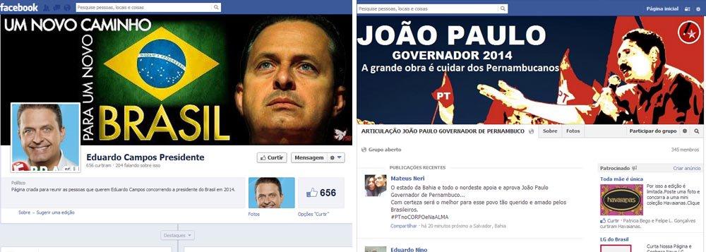 Em Pernambuco, campanha eleitoral já está na web