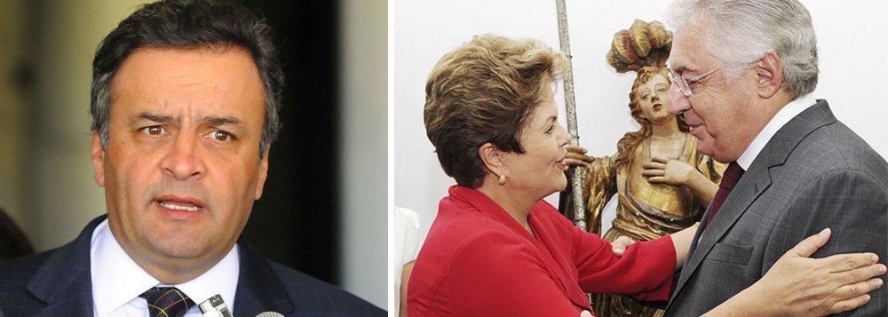 """Aécio: """"Brasil agora concorrerá com o Gabão"""""""