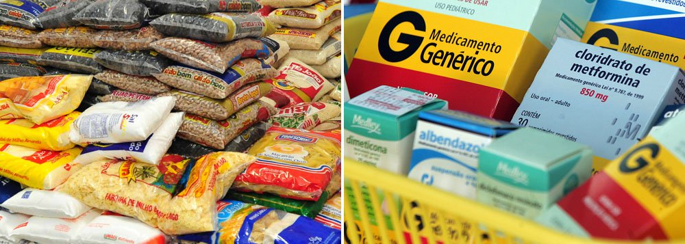 Alimentos e remédios pressionam a inflação