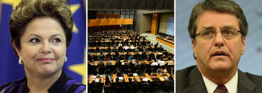 """Dilma felicita OMC e prevê """"crescimento e justiça"""""""
