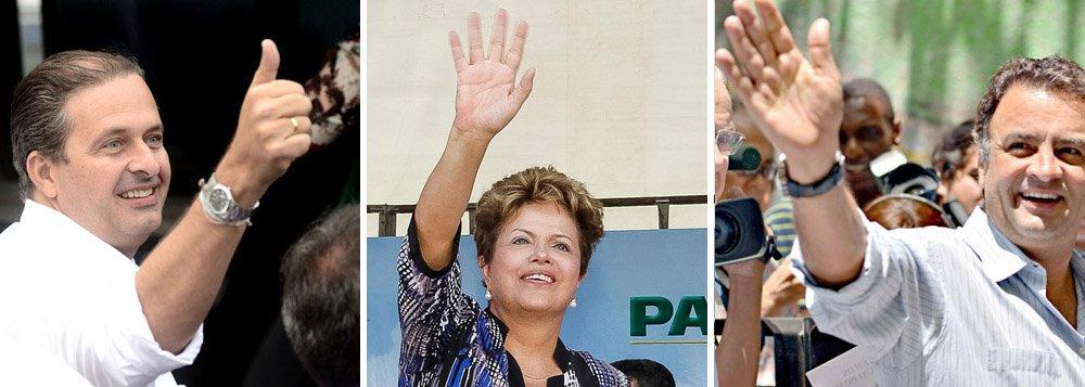 A longa viagem de Campos, Dilma e Aécio rumo a 2014