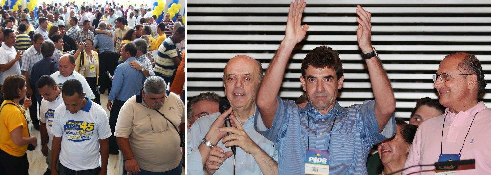 Em convenção, Alckmin nega desunião no PSDB