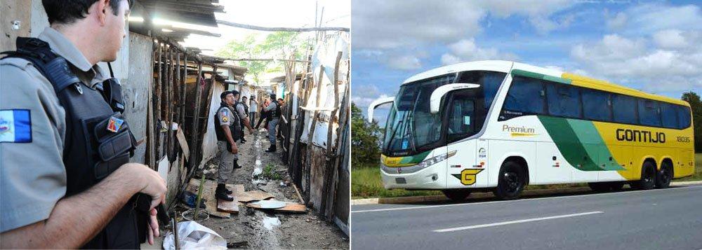 Insegurança: triplica número de assassinatos e ônibus é assaltado na BR-101