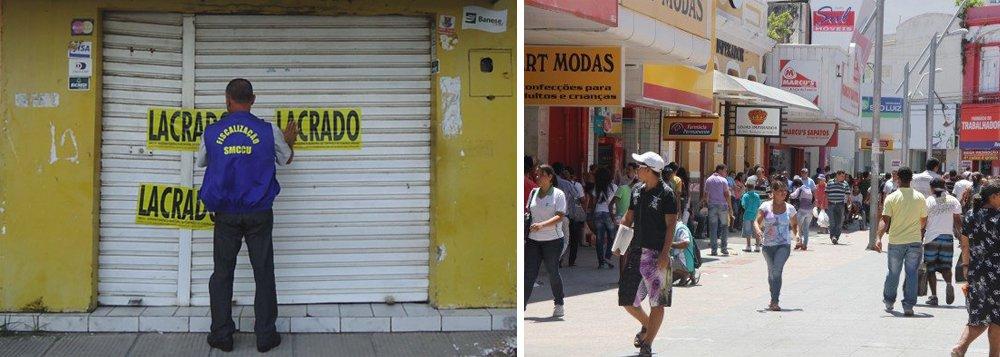 Prefeitura fecha seis lojas irregulares
