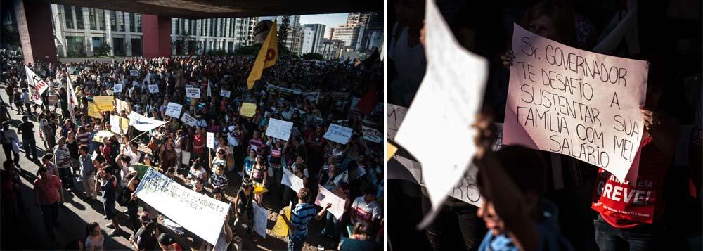 Professores estaduais mantêm greve em São Paulo