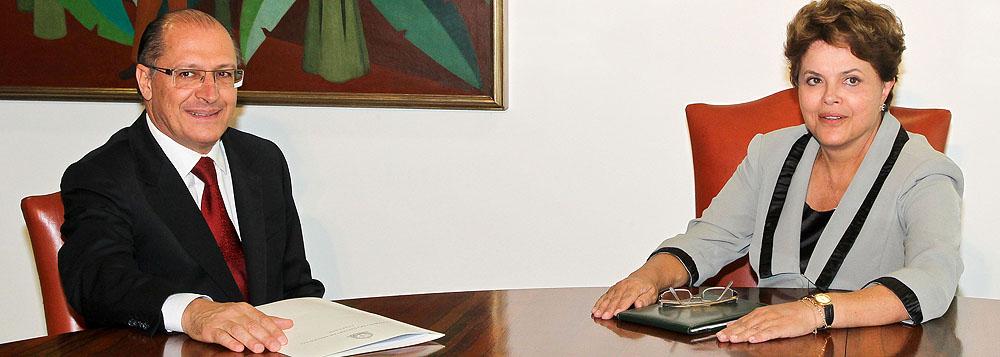 Em reunião com Dilma, Alckmin critica unificação do ICMS