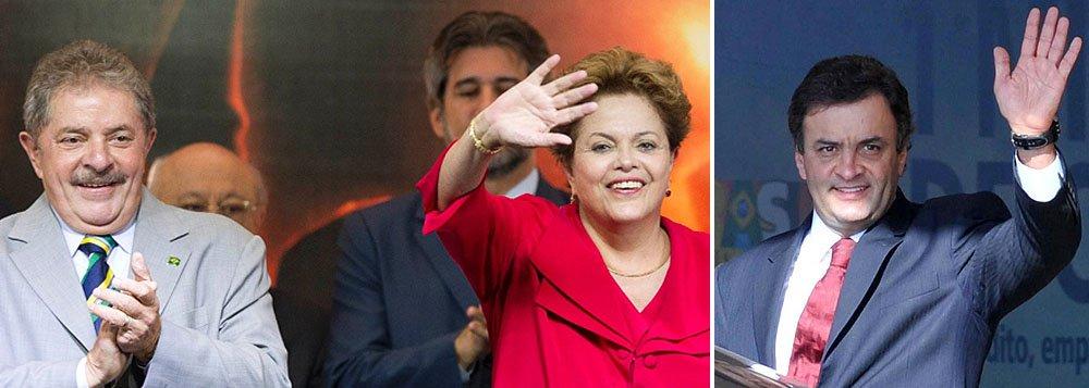 Com Lula, Dilma enfrenta Aécio em palanque mineiro