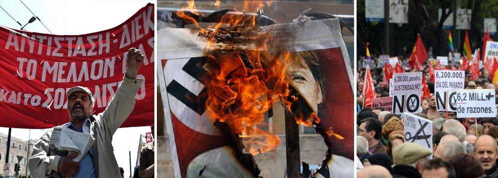 Numa Europa sem trabalho, protestos contra austeridade