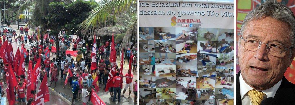 No dia do trabalho, população protesta contra o governo Vilela