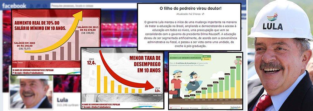 Com números, Lula fatura 1º de Maio no Facebook