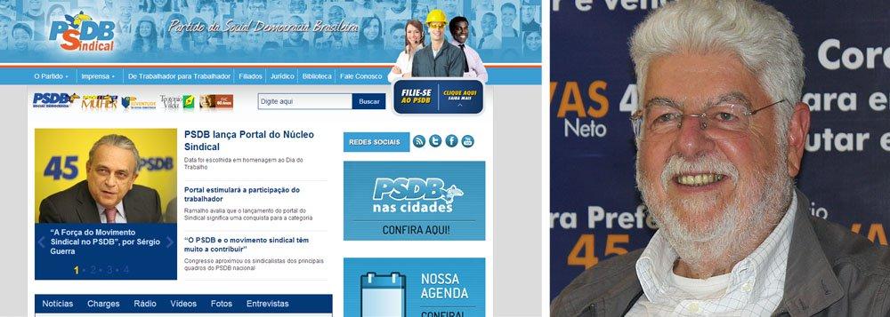 No 1º de Maio, PSDB lança portal sindical