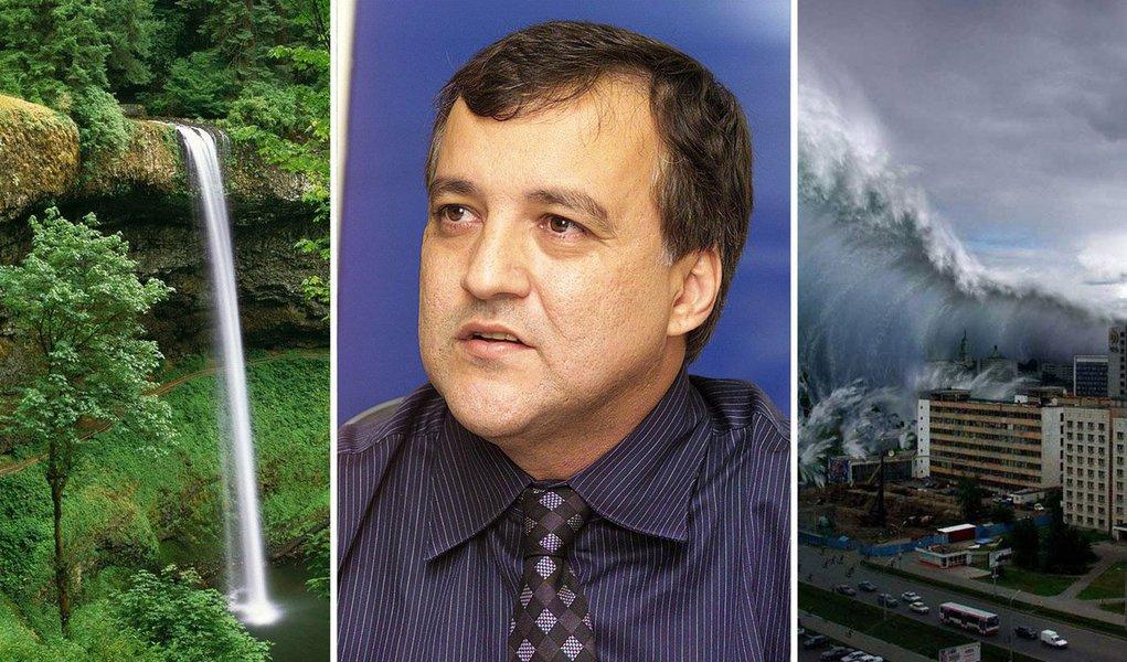 A cachoeira pode se transformar em tsunami