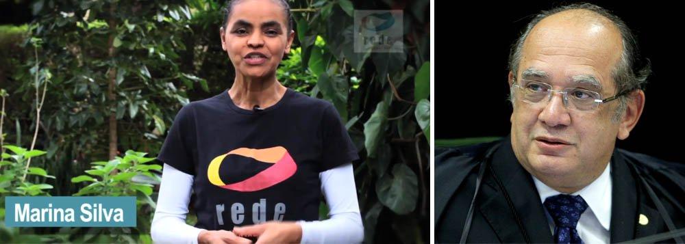Marina agradece a Gilmar por decisão que abriu crise