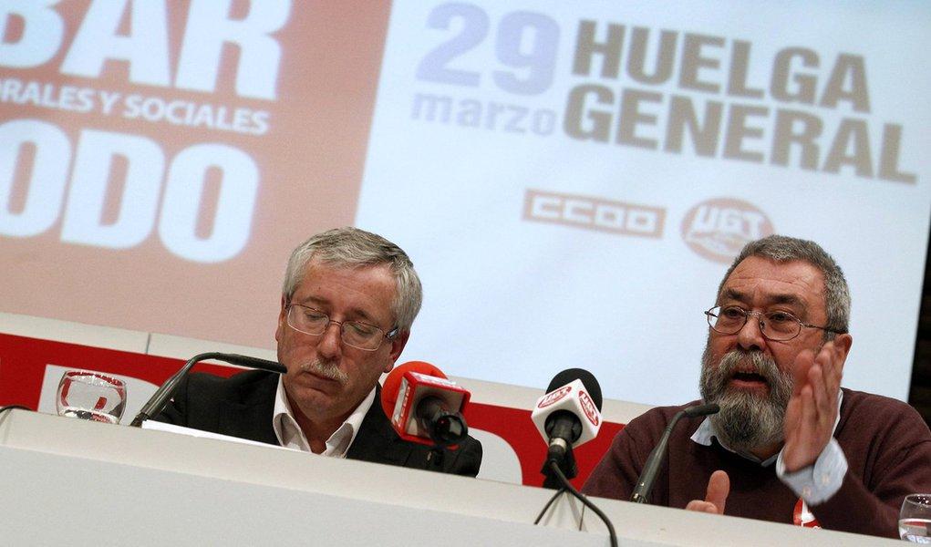 Espanhóis anunciam greve geral para o dia 29
