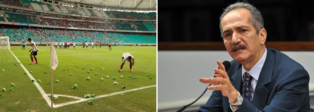 Aldo lamenta protesto com caxirola na Fonte Nova