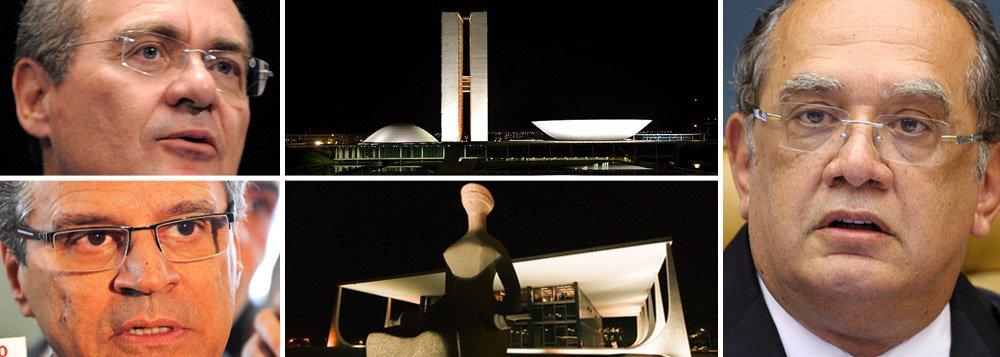 Renan e Alves vão a Gilmar por crise STF-Congresso
