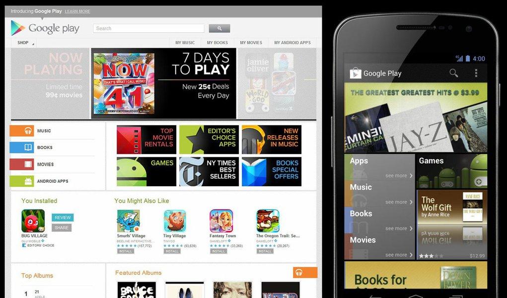 Google lança loja virtual no estilo iTunes