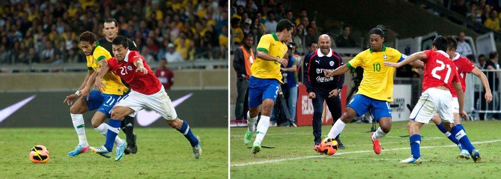 Brasil é vaiado em empate com o Chile no Mineirão