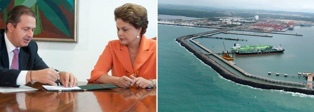 Um porto de distância entre Dilma e Eduardo
