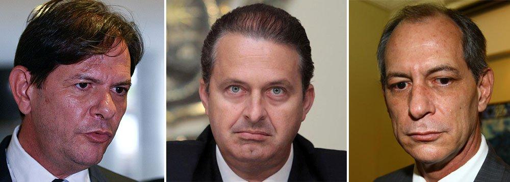 Cid e Ciro Gomes aumentam ataques a Eduardo Campos