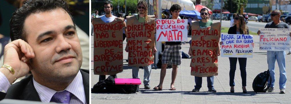 Petistas deixam comissão presidida por Feliciano