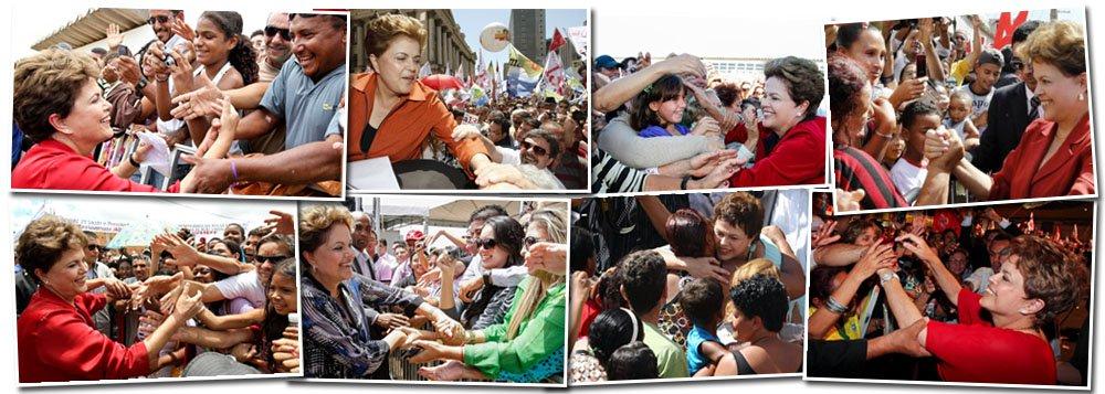 Nos braços do povo, Dilma ultrapassa encilhamento