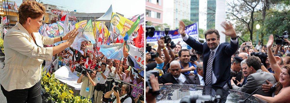 Dilma vai a Minas para dois dias de combate a Aécio