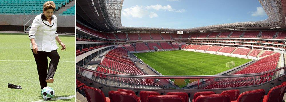 Dilma inaugura Arena PE no dia 14 de maio