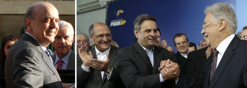 Serra diz que pode apoiar Aécio à presidência do PSDB